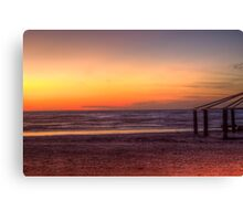 golden shore  Canvas Print