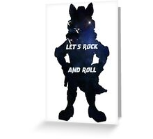 Starfox | Let's Rock and Roll Greeting Card