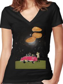 Unidentified flying object Women's Fitted V-Neck T-Shirt