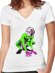 Riddler Women's Fitted V-Neck T-Shirt