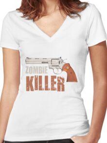 zombie killer Women's Fitted V-Neck T-Shirt