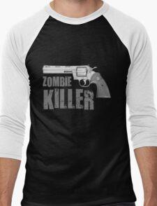 zombie killer black and white Men's Baseball ¾ T-Shirt