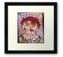 the mad man, Framed Print