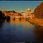 Vatican from the Tiber River by LaRoach