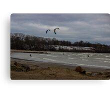 Kite Skiing Canvas Print