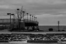 Pier (black and white) by Nevermind the Camera Photography
