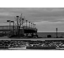Pier (black and white) Photographic Print
