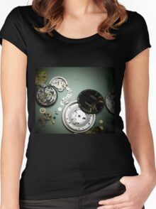 ROLEX movement  Women's Fitted Scoop T-Shirt
