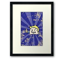 Fallout 4 Distressed Winking CatBag Framed Print