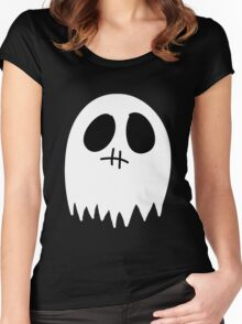 Cute Lifeless Ghost Women's Fitted Scoop T-Shirt
