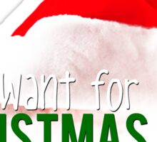 ALL I WANT FOR XMAS - JARED Sticker