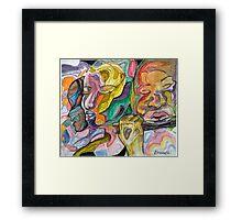 music charmer - the flutist Framed Print