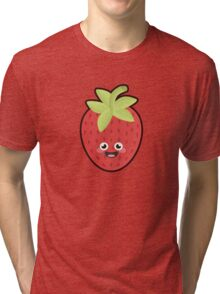 Kawaii Strawberry Tri-blend T-Shirt