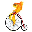 Penny Farthing Fish by Katherine Appleby