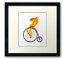 Penny Farthing Fish Framed Print