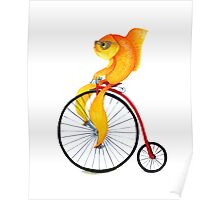 Penny Farthing Fish Poster