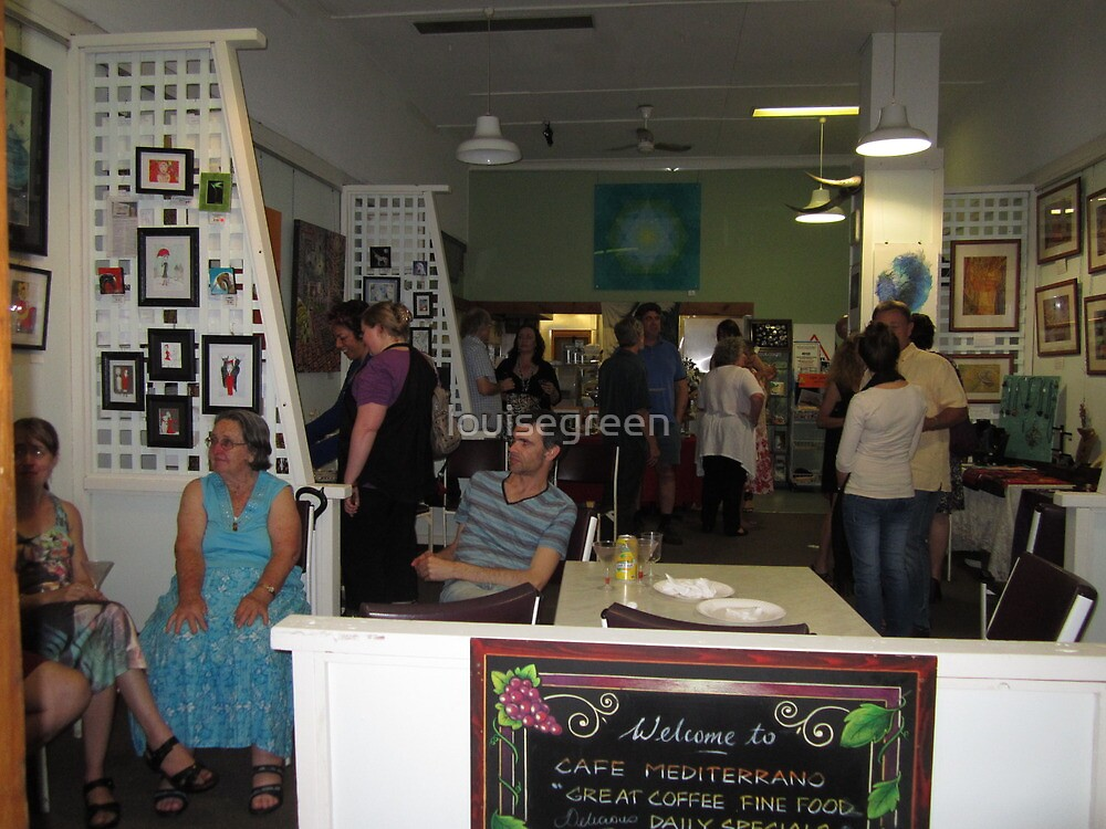 """Opening night Cafe Mediterrano """"Happy Holidays"""" Exhibition by louisegreen"""