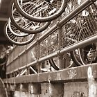 Bike parking Post Alley, Seattle by JJConnors