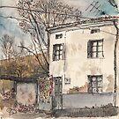 House in Guardo in Winter by Adolfo Arranz