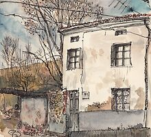 House in Guardo in Winter by Adolfo Arranz
