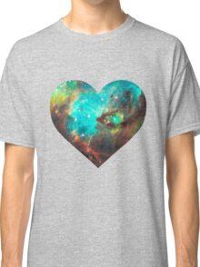 Green Galaxy Heart Classic T-Shirt