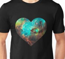 Green Galaxy Heart Unisex T-Shirt