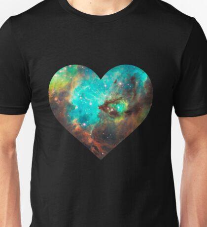 Green Galaxy Heart Unisex T-Shirt