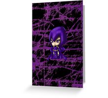 Chibi Raven Greeting Card