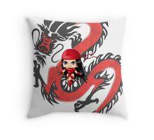 Chibi Elektra Throw Pillow