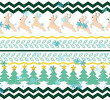 Christmas design with deer by RosiLorz