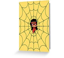 Chibi Spiderwoman Greeting Card