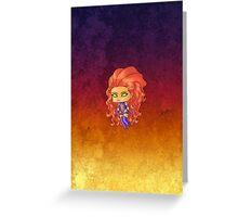 Chibi Starfire Greeting Card