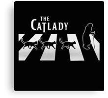 Cat Lady funny parody Canvas Print