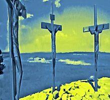 Three Crosses iPhone Case by iphonejohn