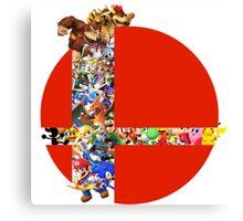Super Smash Bros characters Canvas Print