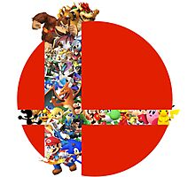 Super Smash Bros characters Photographic Print