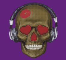 Skull - Kissy Lips with Headphones by cpotter