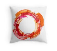 Abstract Watercolor Stroke Throw Pillow