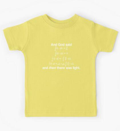 And God Said (Maxwell's equations) Kids Tee