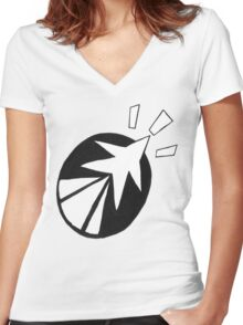 'SolForce'- Leap Forward Women's Fitted V-Neck T-Shirt