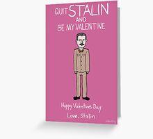 Josef Stalin Greeting Card