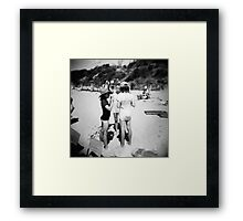 Beach babes Framed Print