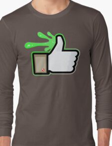 FACEBOOK X GHOSTBUSTERS (GB1 SLIMED) Long Sleeve T-Shirt