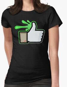FACEBOOK X GHOSTBUSTERS (GB1 SLIMED) Womens Fitted T-Shirt