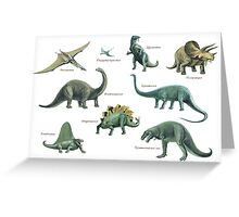 Dinosaur montage Greeting Card