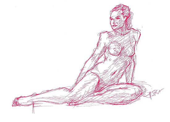 Figure Drawing by hasanabbas