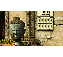 Ancient Temple - Modern Times Photographic Print