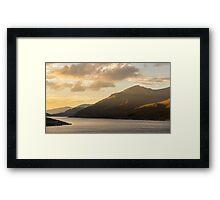 Last light Glen Cannich, Loch Cannich, Scotland Framed Print