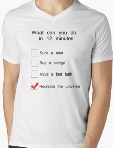 What can you possibly do in 12 minutes? Mens V-Neck T-Shirt