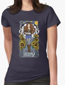 The Girl Who Waited (Amy on faded blue) T-Shirt